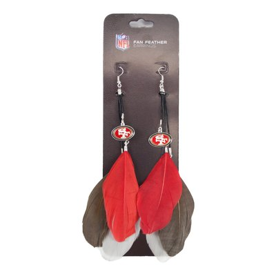 San Francisco 49ers Feather Earrings